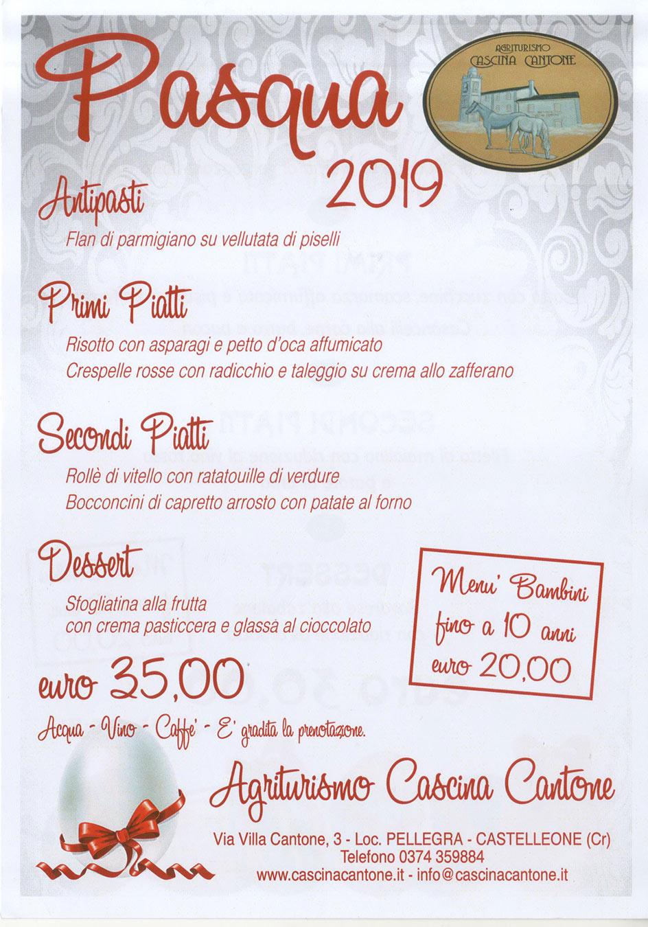 Pasqua 2019 alla Cascina Cantone